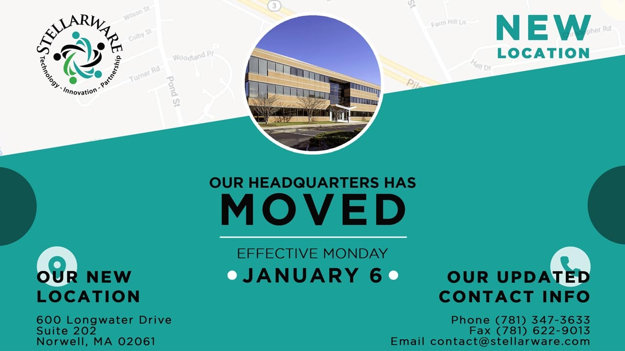 STELLARWARE CORPORATION HEADQUARTERS HAS MOVED!